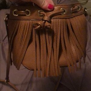 Rebecca minkoff mini tassel bucket bag